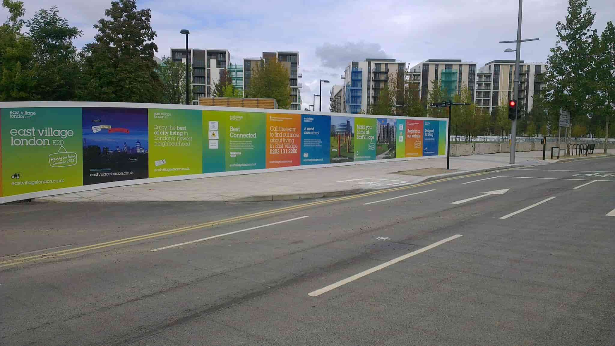 olympic village external hoarding